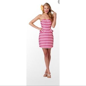 Lilly Pulitzer Maybell pink & white stripe dress